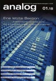 Zeitschriften: analog - Zeitschrift für analoge Musikwiedergabe  01/18, Zeitschrift
