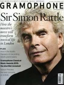Zeitschriften: Gramophone September 2015 - The Classical Music Magazine, Zeitschrift