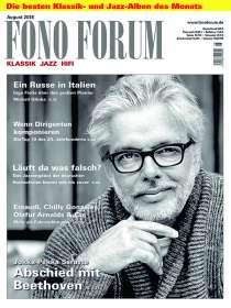 Zeitschriften: FonoForum August 2018, Zeitschrift