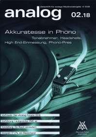 Zeitschriften: analog - Zeitschrift für analoge Musikwiedergabe  02/18, Zeitschrift