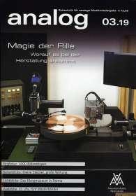 Zeitschriften: analog - Zeitschrift für analoge Musikwiedergabe 03/19, ZEI