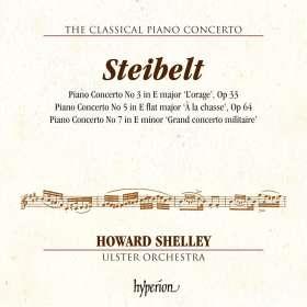 Daniel Steibelt (1765-1823): Klavierkonzerte Nr.3,5,7, CD