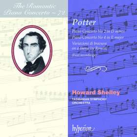 Cipriani Potter (1792-1871): Klavierkonzerte Nr.2 & 4, CD