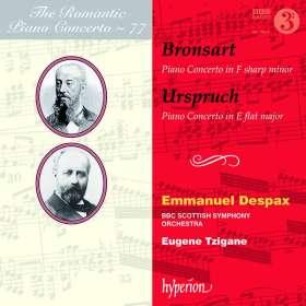 Hans Bronsart von Schellendorf (1830-1913): Klavierkonzert fis-moll op.10, CD