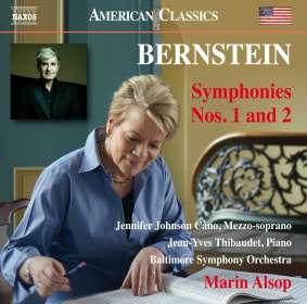 Leonard Bernstein (1918-1990): Symphonien Nr.1 & 2, CD