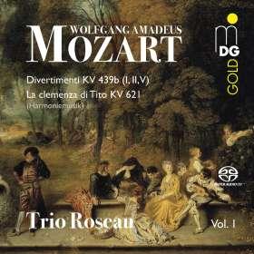 Wolfgang Amadeus Mozart (1756-1791): Divertimenti KV 439b Nr.1,2,5, SACD