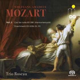 Wolfgang Amadeus Mozart (1756-1791): Divertimenti KV 439b Nr.3 & 4, SACD