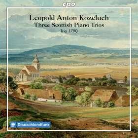 """Leopold Kozeluch (1747-1818): 3 Klaviertrios (P.IX: Nr.41,44,45) """"Schottische Trios"""", CD"""