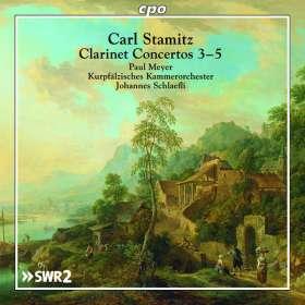 Carl Stamitz (1745-1801): Klarinettenkonzerte Nr.3-5, CD