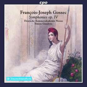 Francois-Joseph Gossec (1734-1829): Symphonien op.4 Nr.1-6, CD