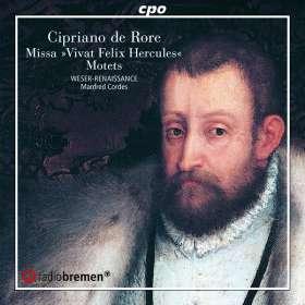 """Cipriano de Rore (1516-1565): Missa """"Vivat Felix Hercules Secundus"""", CD"""