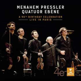 Menahem Pressler & Quatuor Ebene - A 90th Birthday Celebration live in Paris, CD