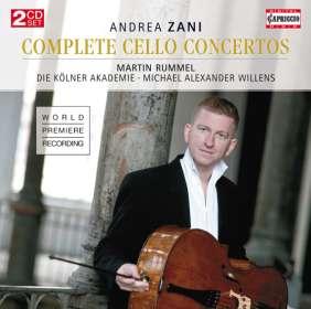 """Andrea Zani (1696-1757): Cellokonzerte Nr.1-12 """"Concerti per Camera"""", CD"""