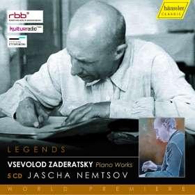 Vsevolod Zaderatsky (1891-1953): Klavierwerke, 5 CDs