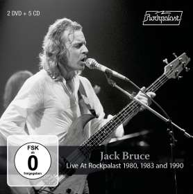 Jack Bruce: Live At Rockpalast 1980, 1983 And 1990, 5 CDs