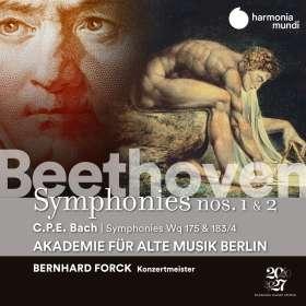 Ludwig van Beethoven (1770-1827): Symphonien Nr.1 & 2, CD