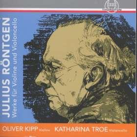 Julius Röntgen (1855-1932): Kammermusik für Violine & Cello, CD
