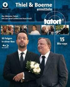 Tatort Münster - Thiel und Boerne ermitteln Fall 1-30 (Blu-ray), 15 Blu-ray Discs