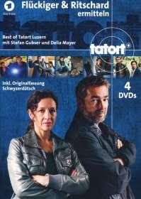 Tatort: Flückiger & Ritschard ermitteln - Best of Tatort Luzern, 4 DVDs