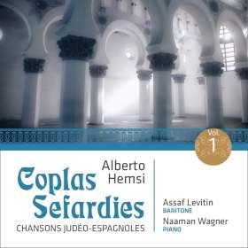 """Alberto Hemsi (1898-1975): Liederzyklus """"Coplas Sefardies"""" Vol.1, CD"""