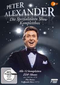 Die Peter Alexander Spezialitäten Show (Komplettbox), 7 DVDs