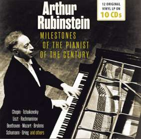 Arthur Rubinstein - Milestones of the Pianist of the Century, 10 CDs