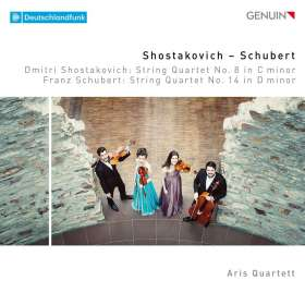 """Franz Schubert (1797-1828): Streichquartett Nr.14 """"Der Tod & das Mädchen"""", CD"""