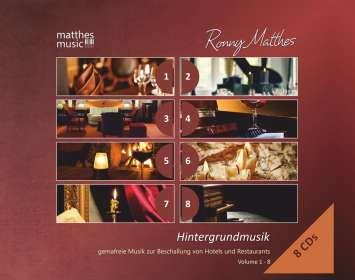 Ronny Matthes: Hintergrundmusik Vol.1 - 8: Gemafreie Musik zur Beschallung von Hotels und Restaurants (Klaviermusik, Jazz & Klassik), 8 CDs