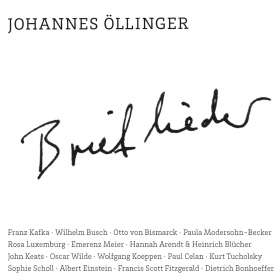 Johannes Öllinger: Brieflieder, CD