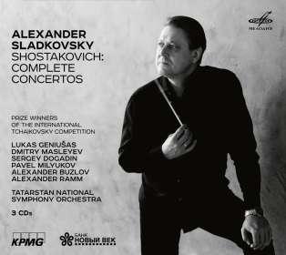 Dmitri Schostakowitsch (1906-1975): Sämtliche Konzerte, 3 CDs