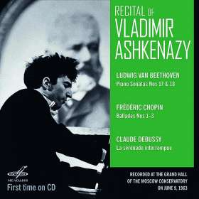 Vladimir Ashkenazy - Recital Moscow Conservatory 9.6.1963, CD