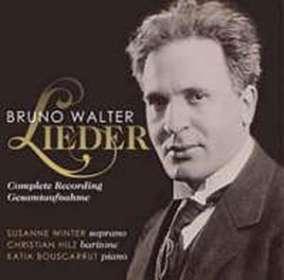 Bruno Walter (1876-1962): Sämtliche Lieder, CD