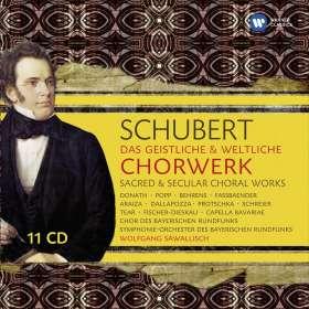 Franz Schubert (1797-1828): Das geistliche & weltliche Chorwerk, 11 CDs