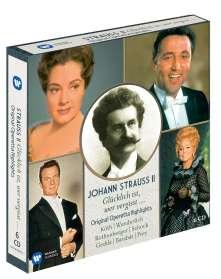 Johann Strauss II (1825-1899): Glücklich ist, wer vergisst (Operetten-Querschnitte), 6 CDs