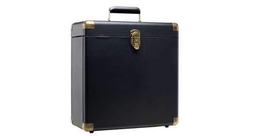LP-Koffer Black-Retro-Style für 35 LPs oder 25 Doppel-LPs, ZUB