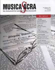 Zeitschriften: Musica Sacra - Zeitschrift für kath. Kirchenmusik  2/2016(März-April), Zeitschrift