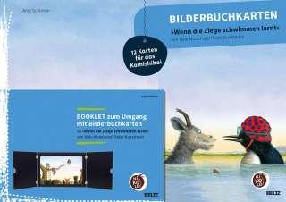 """Bilderbuchkarten """"Wenn die Ziege schwimmen lernt"""" von Nele Moost und Pieter Kunstreich Cover"""