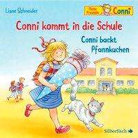 Conni kommt in die Schule ; Conni backt Pfannkuchen Cover