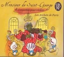 Joseph Bologne Chevalier de Saint-Georges (1745-1799): Violinkonzerte in D,G,A (G 029,G 050,G 039), CD