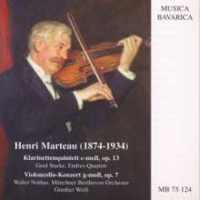 Henri Marteau (1874-1934): Cellokonzert op.7, CD