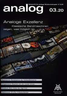 Zeitschriften: analog - Zeitschrift für analoge Musikwiedergabe 03/20, Zeitschrift