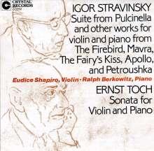 Ernst Toch (1887-1964): Violinsonate, CD