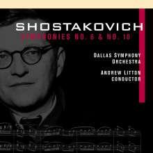 Dmitri Schostakowitsch (1906-1975): Symphonien Nr.6 & 10, 2 CDs