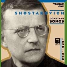 Dimitri Schostakowitsch (1906-1975): Sämtliche Lieder Vol.1, CD