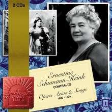 Ernestine Schumann-Heink singt Arien & Lieder, 2 CDs
