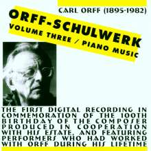 Carl Orff (1895-1982): Schulwerk Vol.3, CD