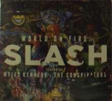 Slash: World On Fire (CD + T-Shirt Gr.XL), 2 CDs