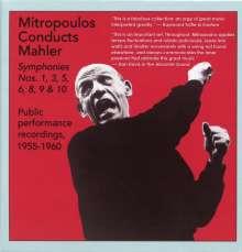 Gustav Mahler (1860-1911): Symphonien Nr.1,3,5,6,8-10, 6 CDs