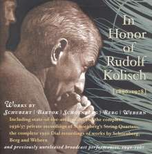 Kolisch Quartet - In Honor of Rudolf Kolisch, 6 CDs