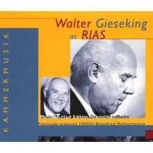 Walter Gieseking at RIAS - Broadcast Performances, 4 CDs